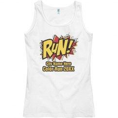 Comic Color Run Tank