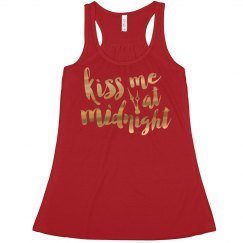 Kiss Me At Midnight Tank (metallic lettering)