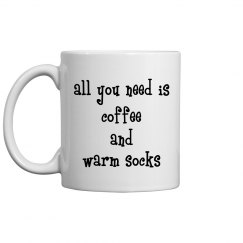 Coffee and warm socks