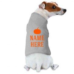 Custom Name Halloween Dog
