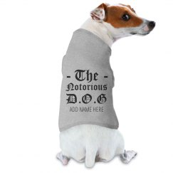 Custom Dog Name Notorious D.O.G