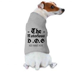 Custom Dog Name Notorious D.O.G