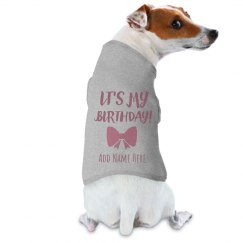Custom Dog Name Birthday Girl