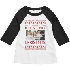 Little Kid Family Photo Ugly Sweater