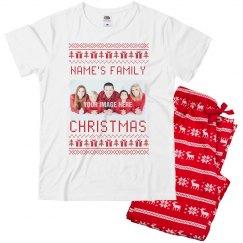 Family Photo Ugly Sweater Christmas PJ's