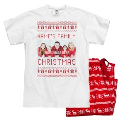 Dad's Mathching Chrismas Photo Pajamas