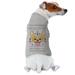 Add Your Text Custom Ugly Dog Sweater