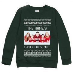 Custom Family Photo Ugly Sweater