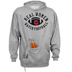 Real Women Watch Football Sporty Tailgating Hoodie