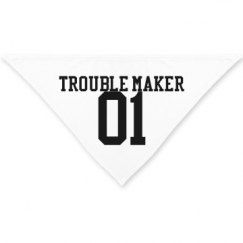 Trouble Maker Dog Bandana