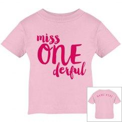 Miss One Derful 1st Birthday Custom