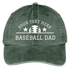 Baseball Dad Custom Text Hat
