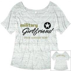 Custom Army Girlfriend Flowy Tee