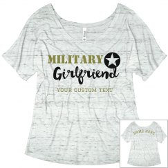 Custom Army Girlfriend Flowy Tee