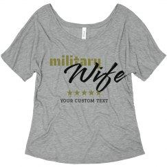 Custom Trendy Army Wife Flowy Tee