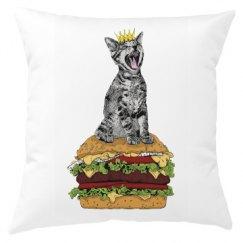Cat Burger Pillow