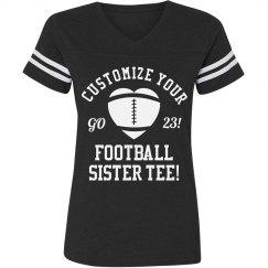 Custom Football Sister