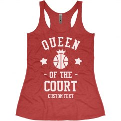 Basketball Queen Custom Racerback Tank