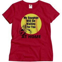 Softball catcher mom