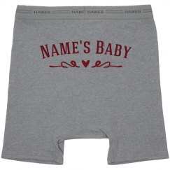 Name Here's Baby Custom Boxer Briefs