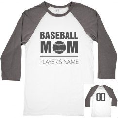 Baseball Mom's Player With Number
