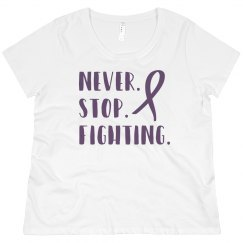 Never stop fighting Alzheimers plus size shirt.