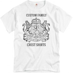 Add Your Family Crest & Name Shirts