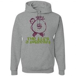 Men's Money's A Breeze Grey Hoodie