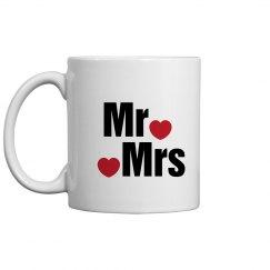 Mr Mrs Coffee Mug Valentine Gift