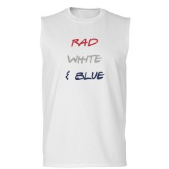 Rad, white and blue