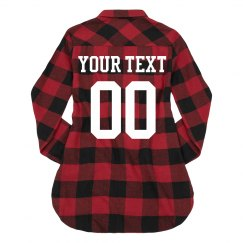 Custom Name/Number Flannel Sports