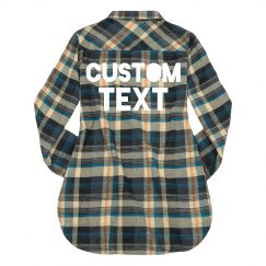 Personalized Text Women's Flannel