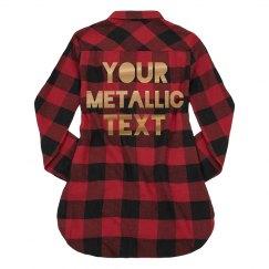 Custom Metallic Text Fall Fashion