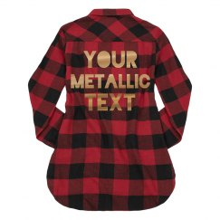 Custom Metallic Text Fall Fashion