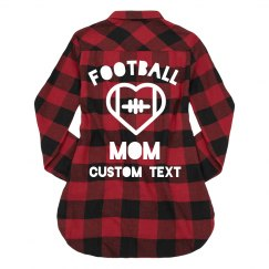 Football Mom Custom Flannel Sports