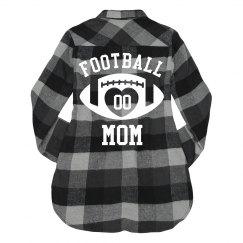Football Mom Custom Number Sports