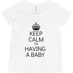 Keep Calm Maternity Shirt