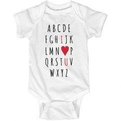 I Love You Alphabet Onesie