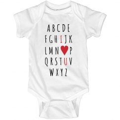 I Love You Alphabet Onesie