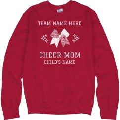 Customizable Team & Name Cheer Mom