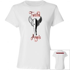 #TeamTwistedAngels Ladies Relaxed Fit Cotton Basic Tee