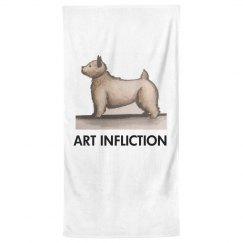 Art Infliction Bath Towel