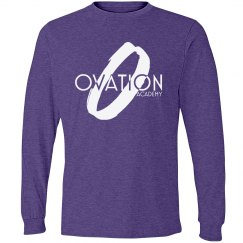 Long-sleeve purple shirt