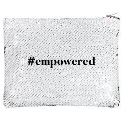 Women Kick Glass #empowered Makeup Bag