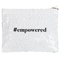 Women Kick Glass #empowered Makeup Bag