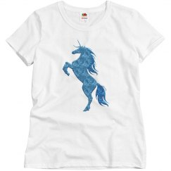 Blue Fire Unicorn Shirt