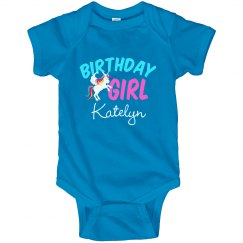 Cute Unicorn Birthday Baby