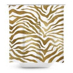 Gold Zebra Animal Print