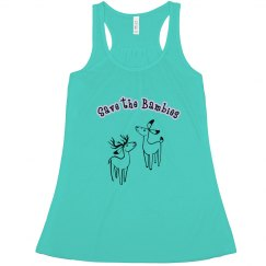 Save the Bambies - Ladies relaxed long tank top
