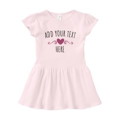 Add Custom Text Baby Girl Dress